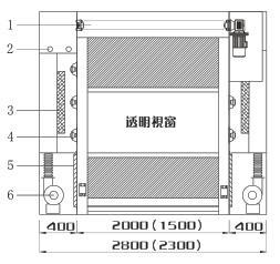 快速卷帘门货淋室结构图